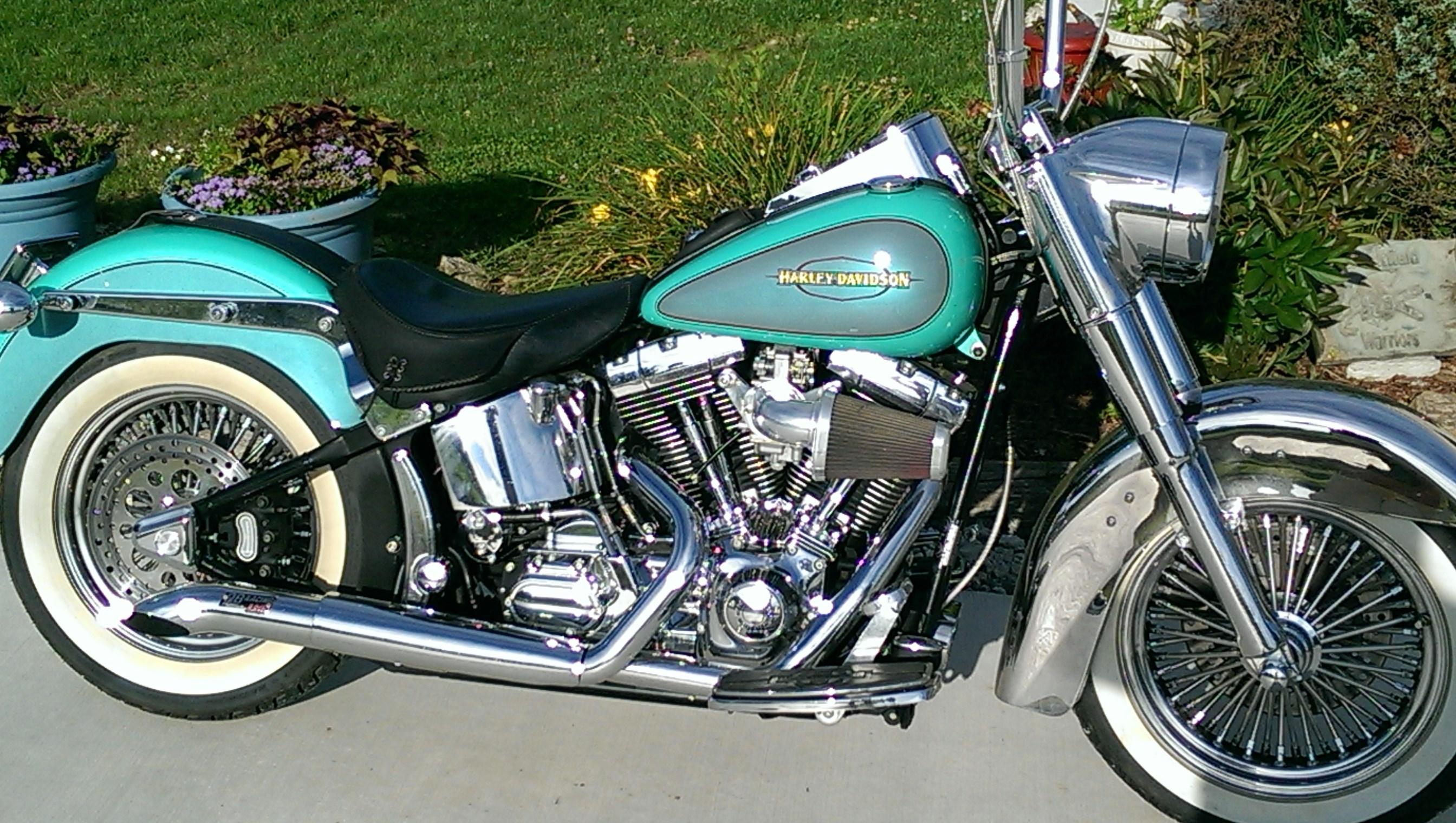 2000 Harley Davidson 174 Flstf Softail 174 Fat Boy 174 Turquoise
