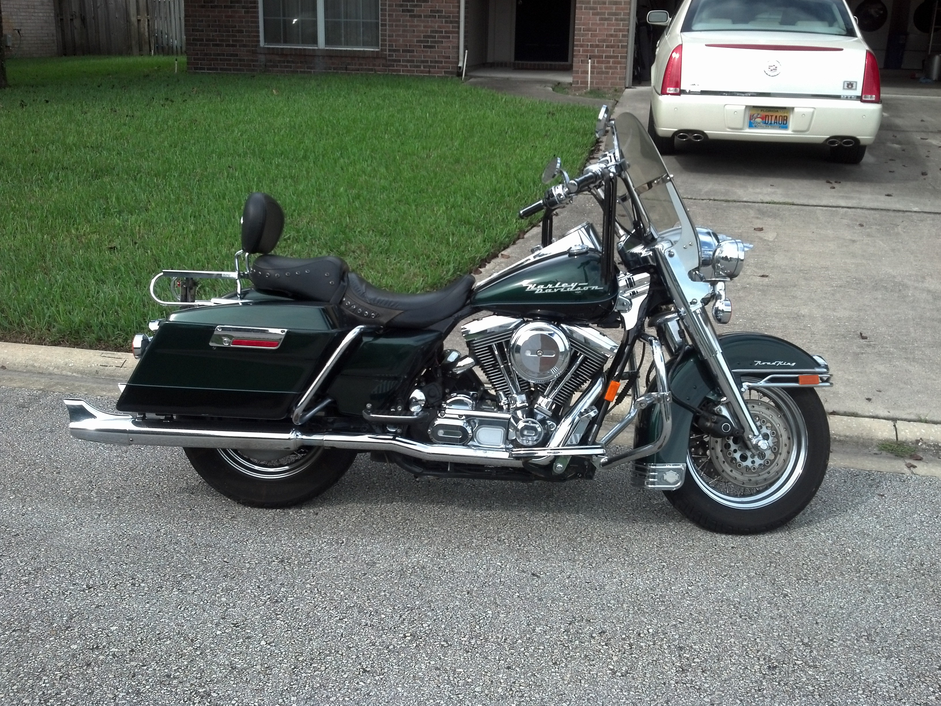 1996 harley davidson flhr i road king green black jacksonville florida 697899. Black Bedroom Furniture Sets. Home Design Ideas
