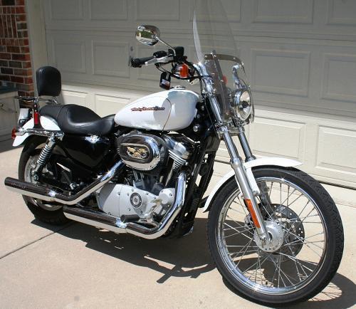2007 harley davidson xl883c sportster 883 custom pearl white murphy texas 314124. Black Bedroom Furniture Sets. Home Design Ideas