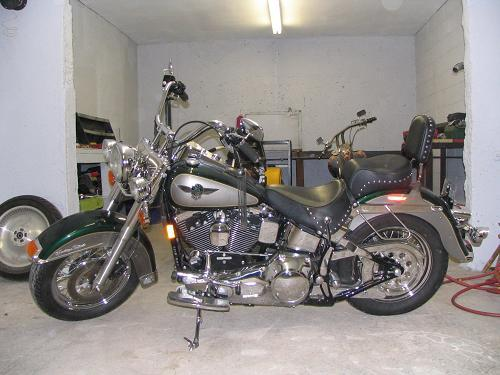 Motorcycle Dealers Near My Location >> 1996 Harley-Davidson® FLSTN Heritage Softail® Nostalgia (MYSTIC GREEN / PLATINUM SILVER ...