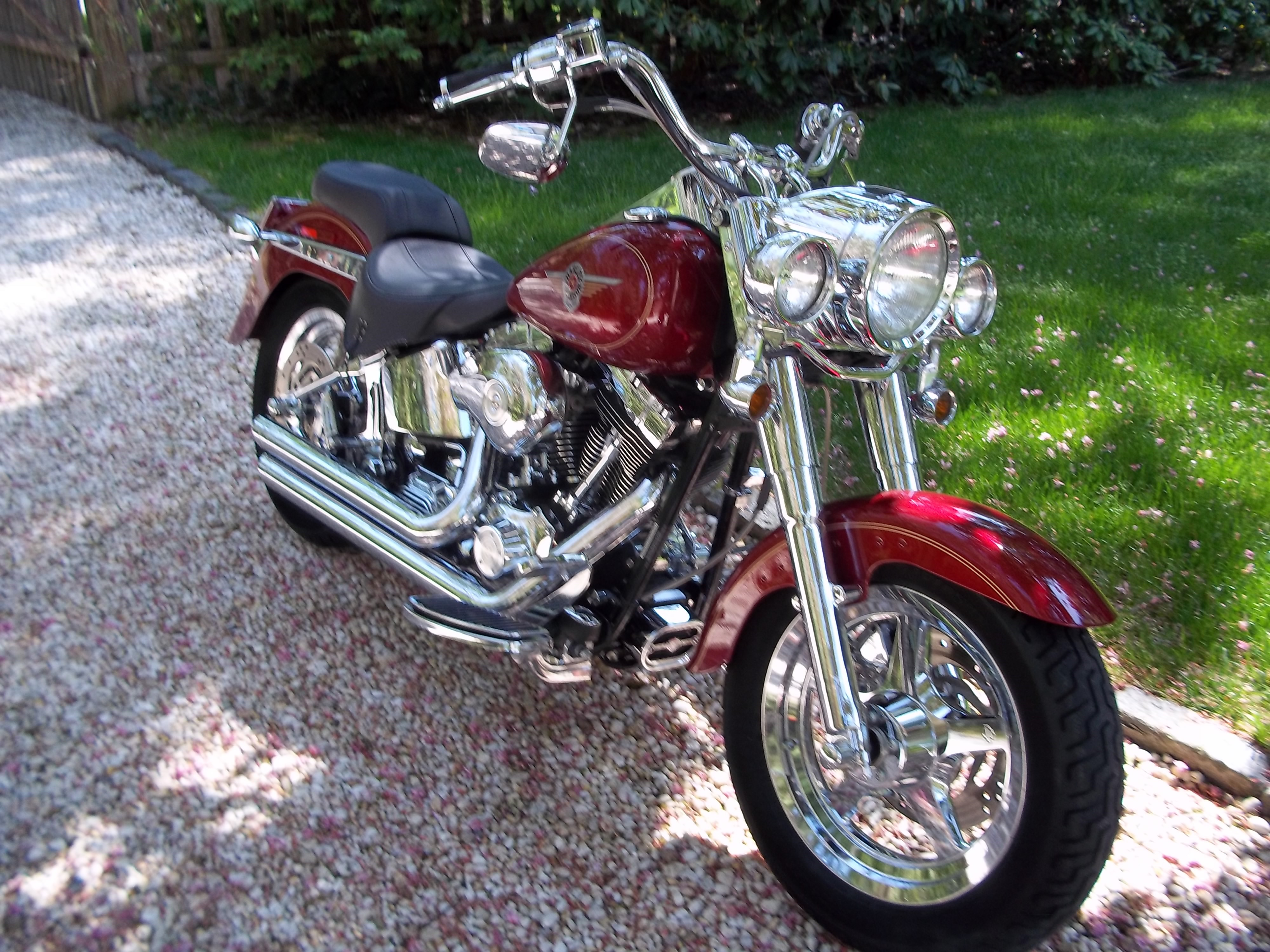 2004 Harley Davidson 174 Flstf I Softail 174 Fat Boy 174 Lava Red