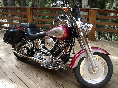 1997 Harley Davidson 174 Flstf Softail 174 Fat Boy 174 Victory Red