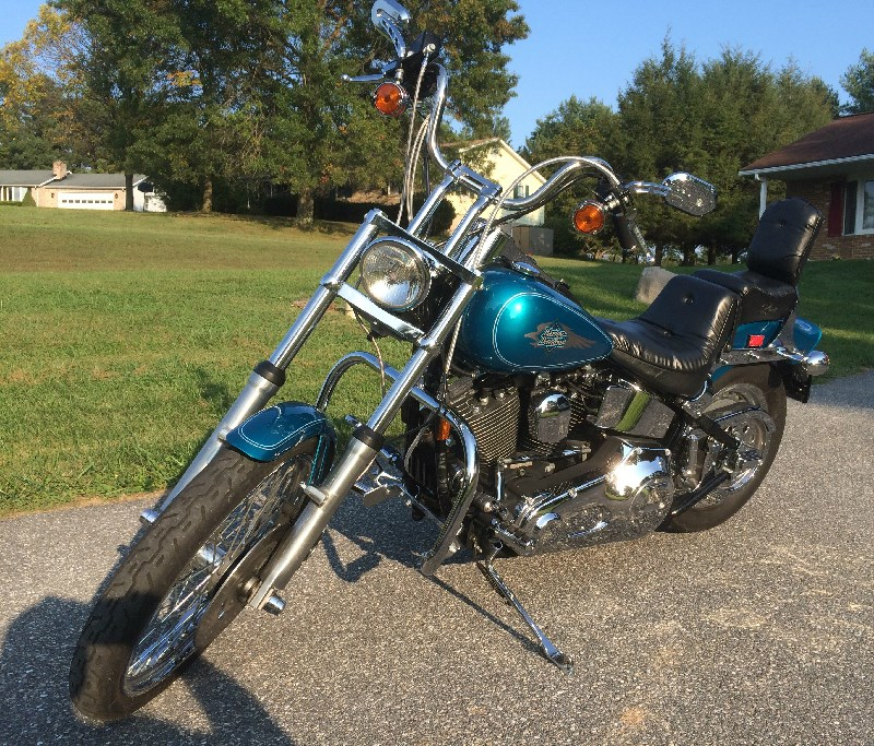Harleys Sold In The Us Will Still Be Built In The Us: 1995 Harley-Davidson® FXSTC Softail® Custom (Teal/Blue