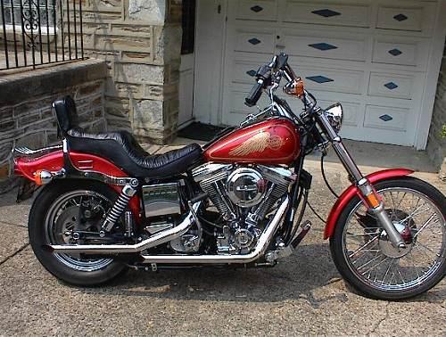 1985 Harley Davidson 174 Fxwg Wide Glide 174 Red Phila