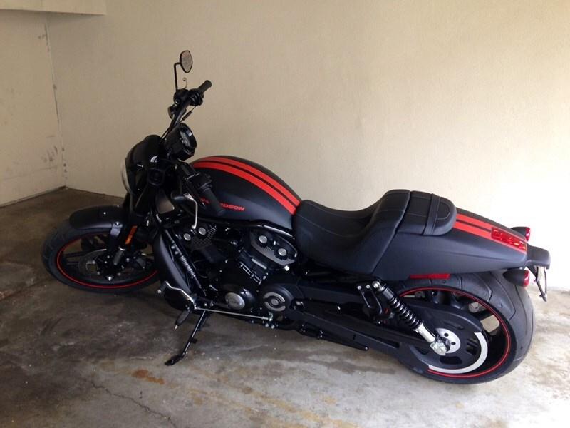 2015 harley-davidson® vrscf v-rod® muscle (flat black with orange