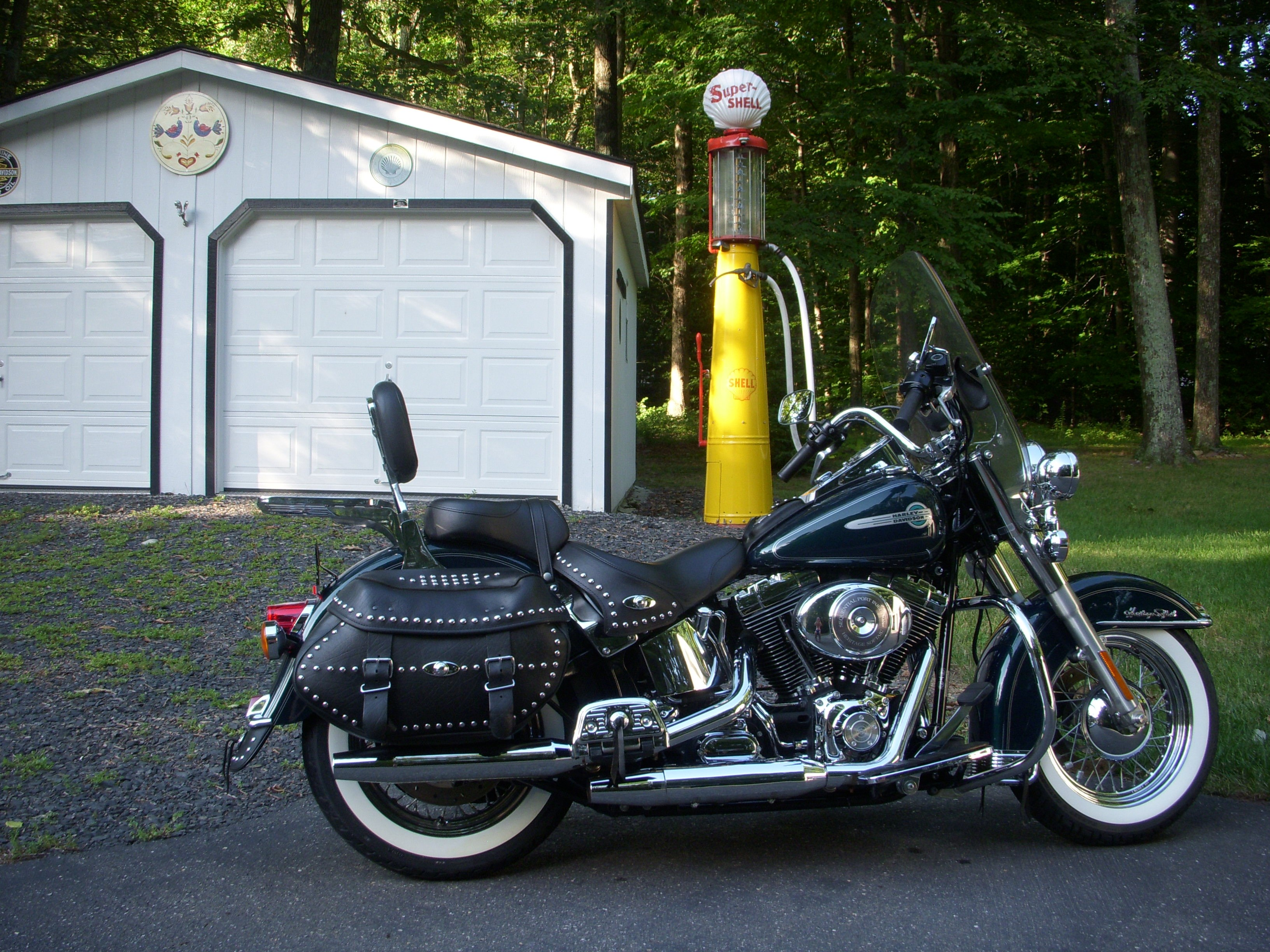 2002 harley davidson flstc i heritage softail classic jade sunglo pearl tannersville. Black Bedroom Furniture Sets. Home Design Ideas