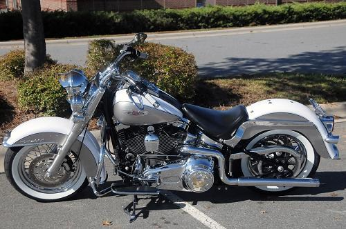 Cartersville Harley Davidson >> 2009 Harley-Davidson® FLSTN Softail® Deluxe (Pewter & White), Concord, North Carolina (333193 ...