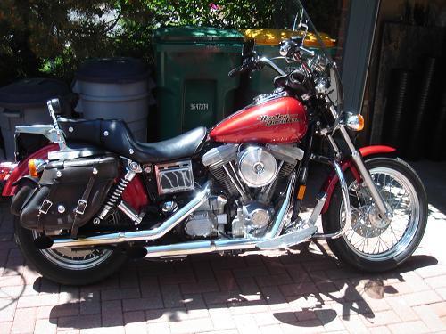 All Bout Cars Harley Davidson Super Glide Dyna: 1996 Harley-Davidson® FXD Dyna® Super Glide® (Candy Red