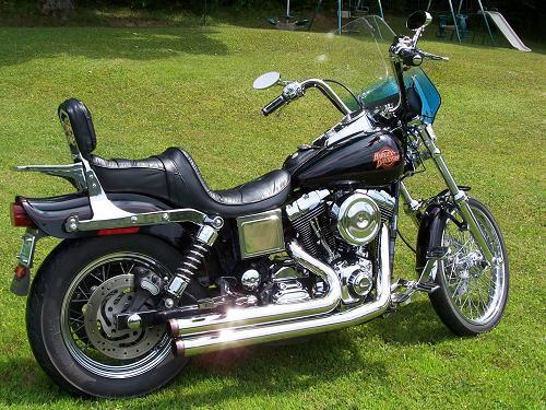 2000 harley davidson fxdwg dyna wide glide black. Black Bedroom Furniture Sets. Home Design Ideas