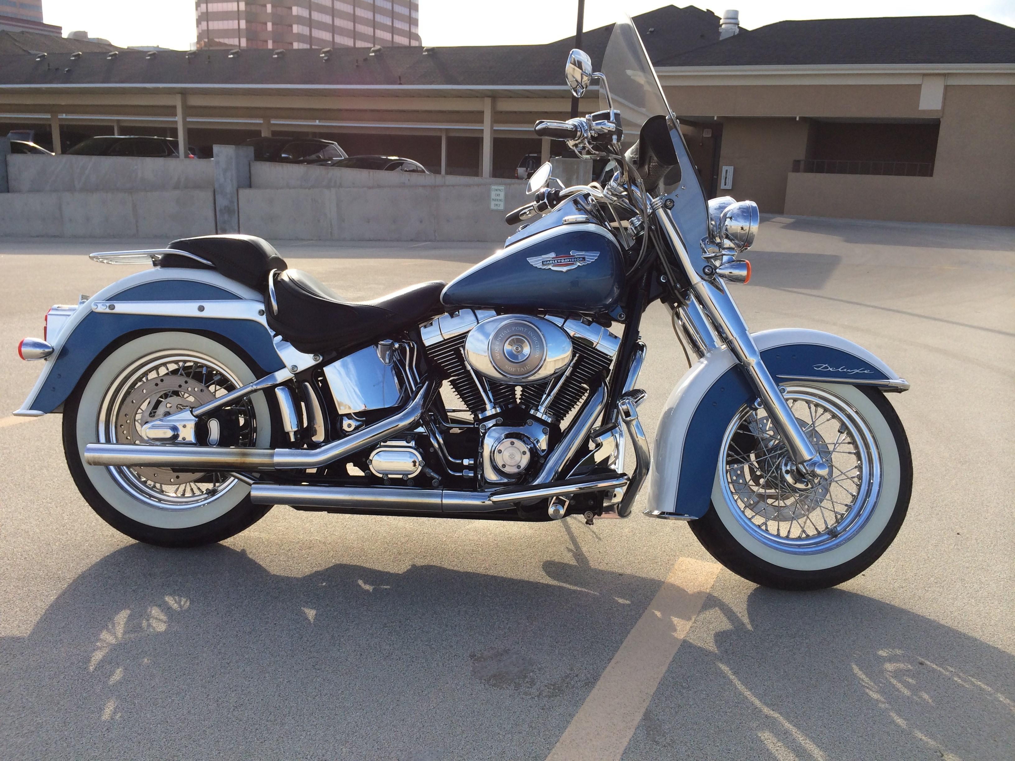 Dallas Harley Davidson >> 2005 Harley-Davidson® FLSTN/I Softail® Deluxe (Blue Pearl And White Glacier), Dallas, Texas ...