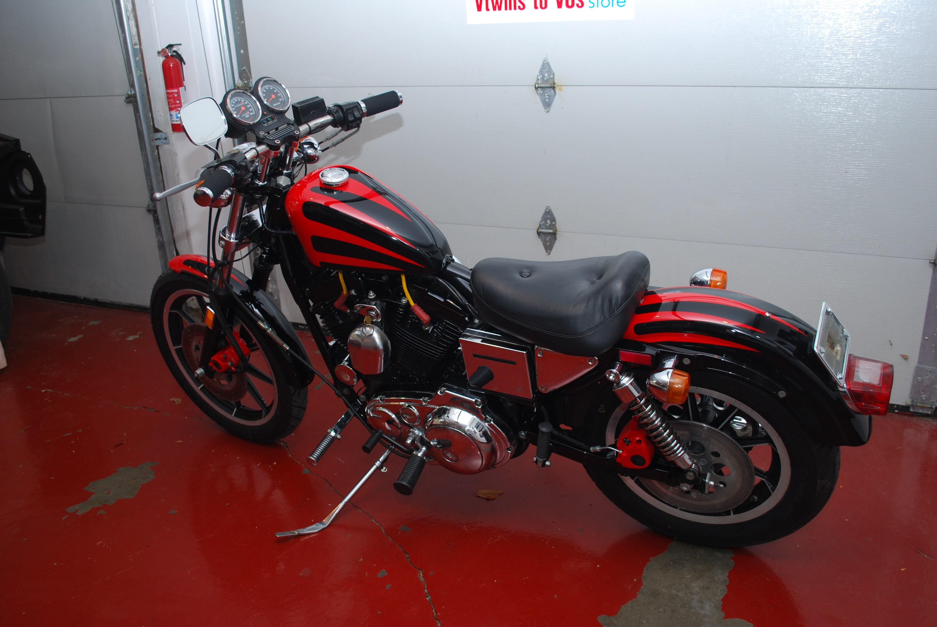 1986 Harley Davidson 174 Xlh 1100 Sportster 174 1100 Red Black