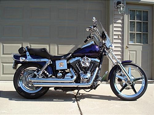 2000 harley davidson fxdwg dyna wide glide purple w. Black Bedroom Furniture Sets. Home Design Ideas