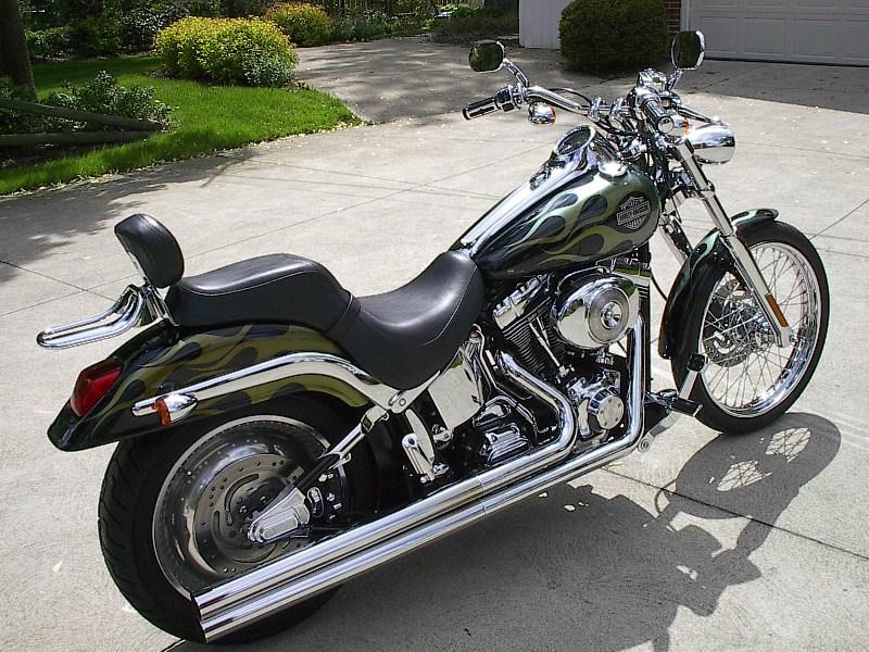 2001 Harley Davidson 174 Fxstd I Softail 174 Deuce Black With