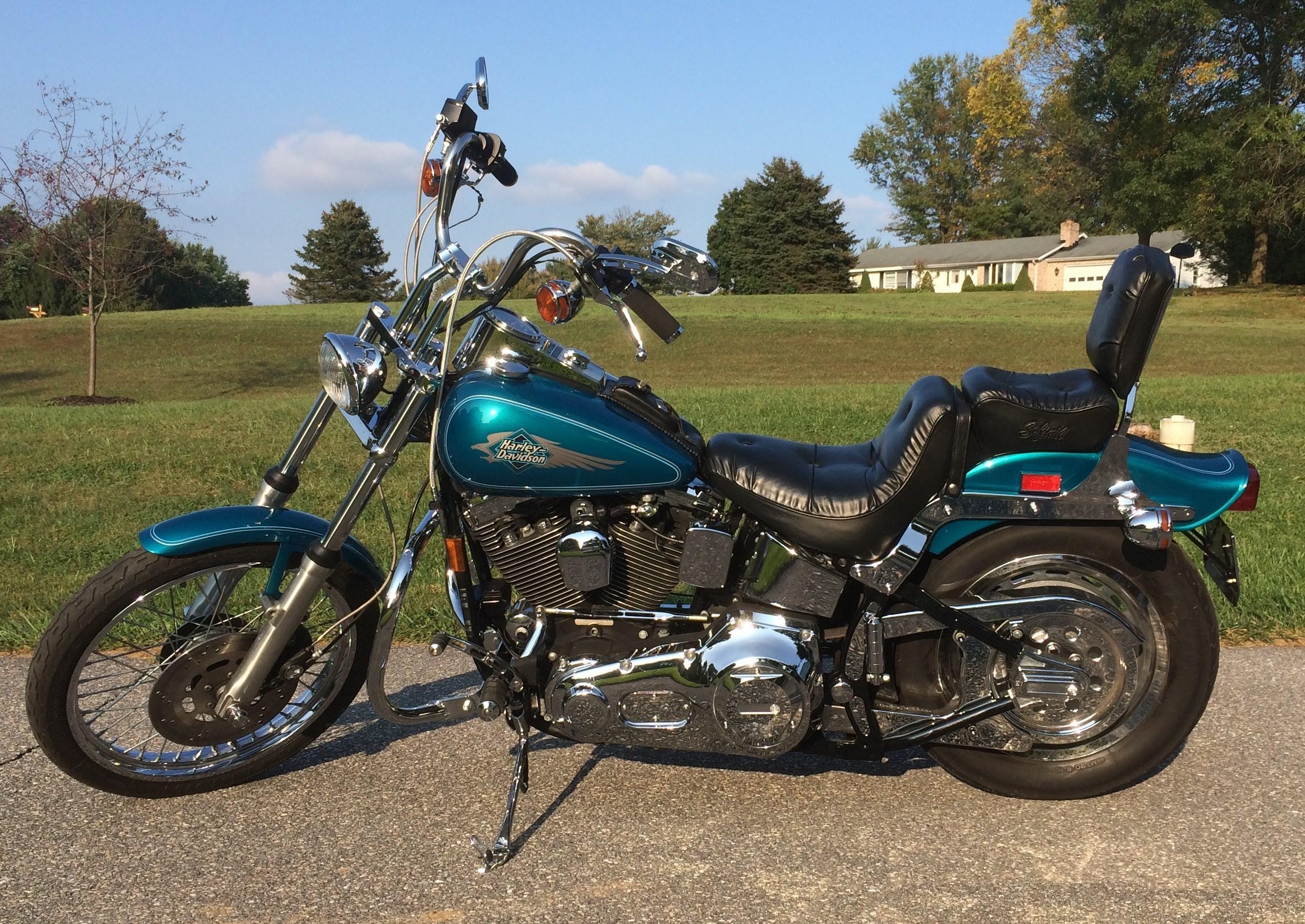 1995 Harley-Davidson® FXSTC Softail® Custom (Teal/Blue ...