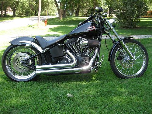 2002 Harley Davidson 174 Fxstb I Softail 174 Night Train 174 Black