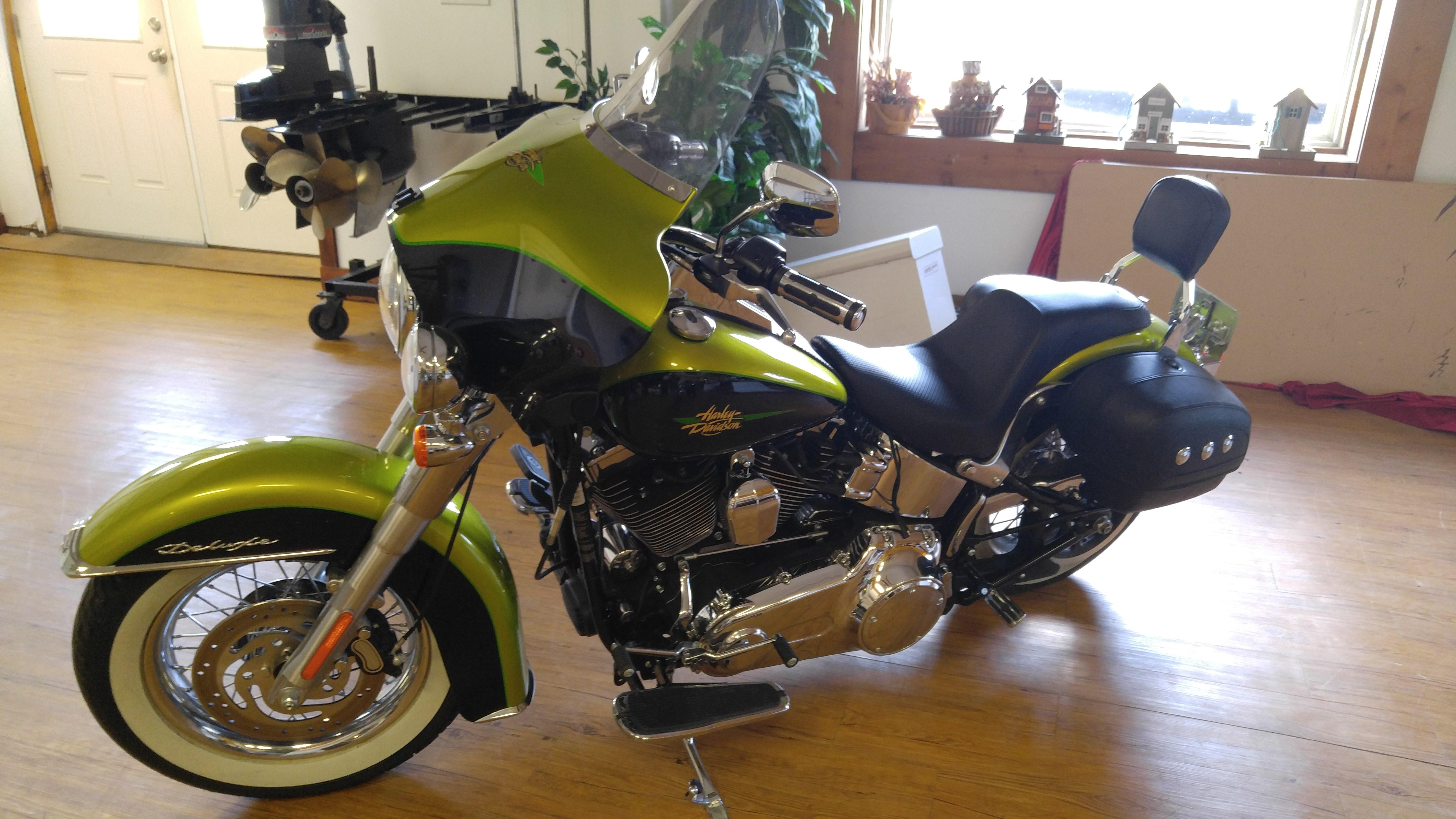 Harley Davidson Chico Ca >> 2011 Harley-Davidson® FLSTN Softail® Deluxe (Candy Apple Green and Black), belleville, Illinois ...