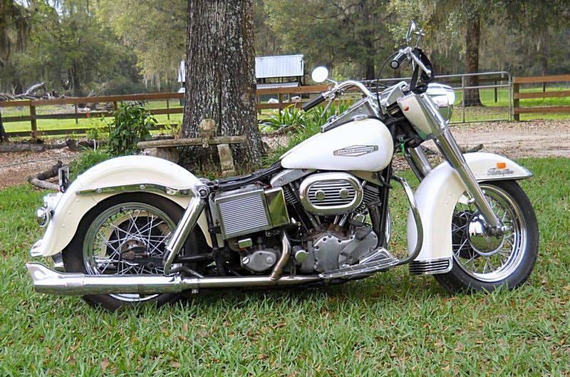 1968 Harley Davidson Flh Electra Glide Vanilla Cream White Panels Bushnell Florida 438128 Chopperexchange