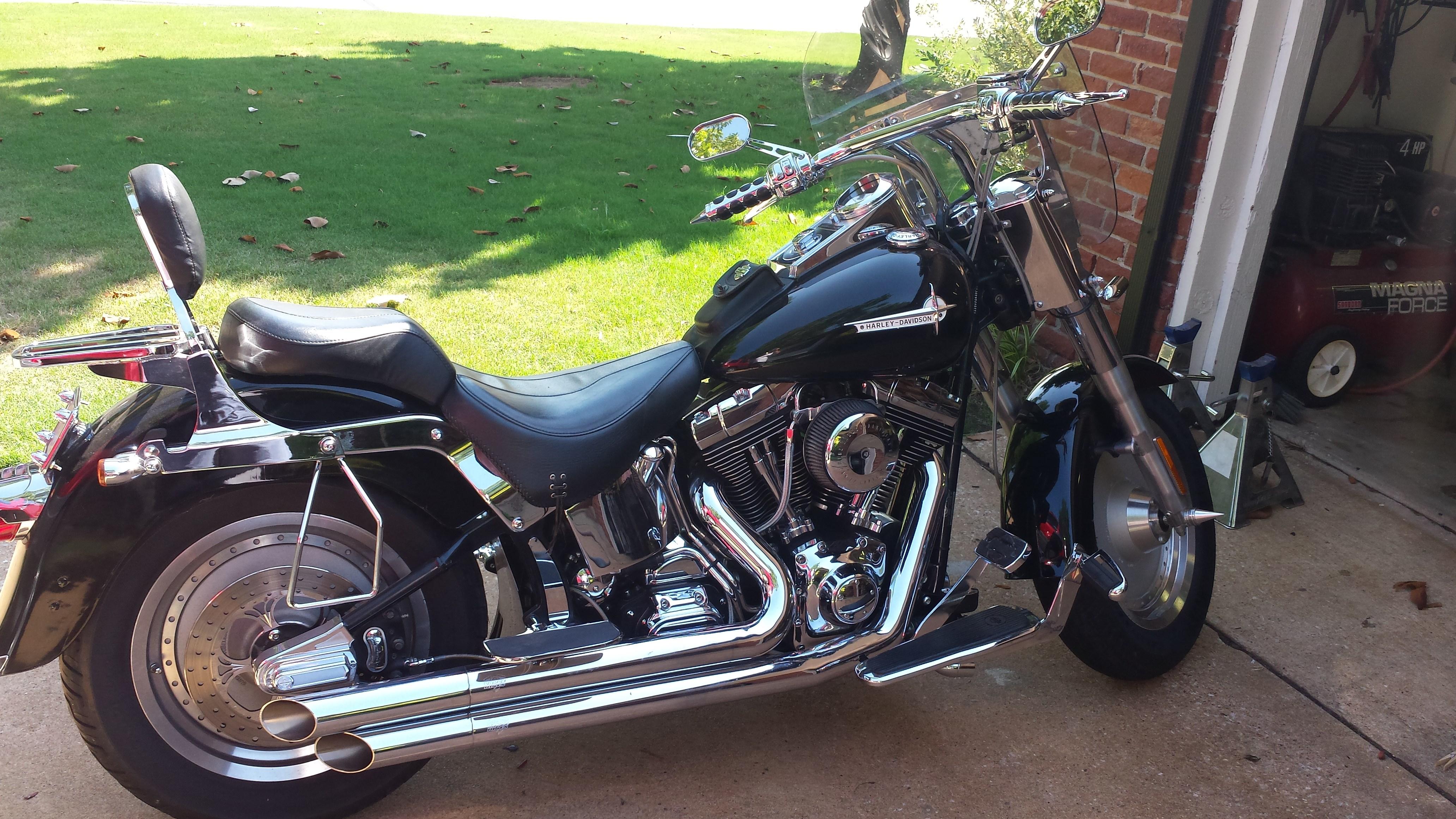 Craigslist Norman Ok >> 2002 Harley-Davidson® FLSTF/I Softail® Fat Boy® (Black ...