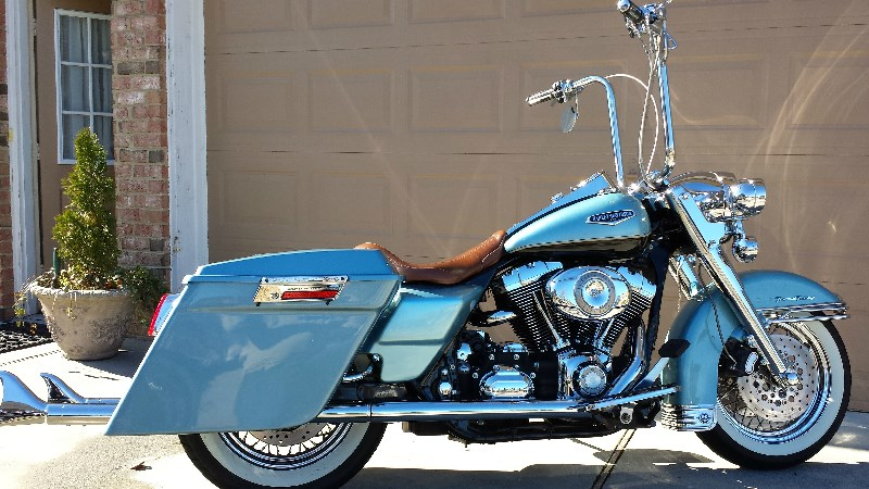 2007 Harley Davidson 174 Flhrc Road King 174 Classic Blue Suede