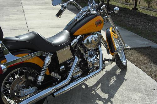 2001 harley davidson fxdwg dyna wide glide yellow black. Black Bedroom Furniture Sets. Home Design Ideas