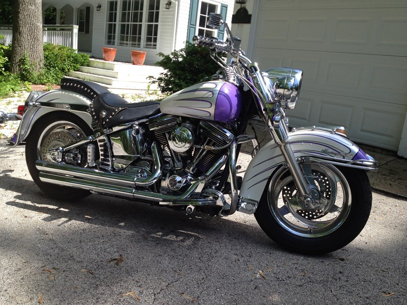 Motorcycle Dealers Near My Location >> 1991 Harley-Davidson® FLSTC Heritage Softail® Classic (White with Purple Flame Accents ...