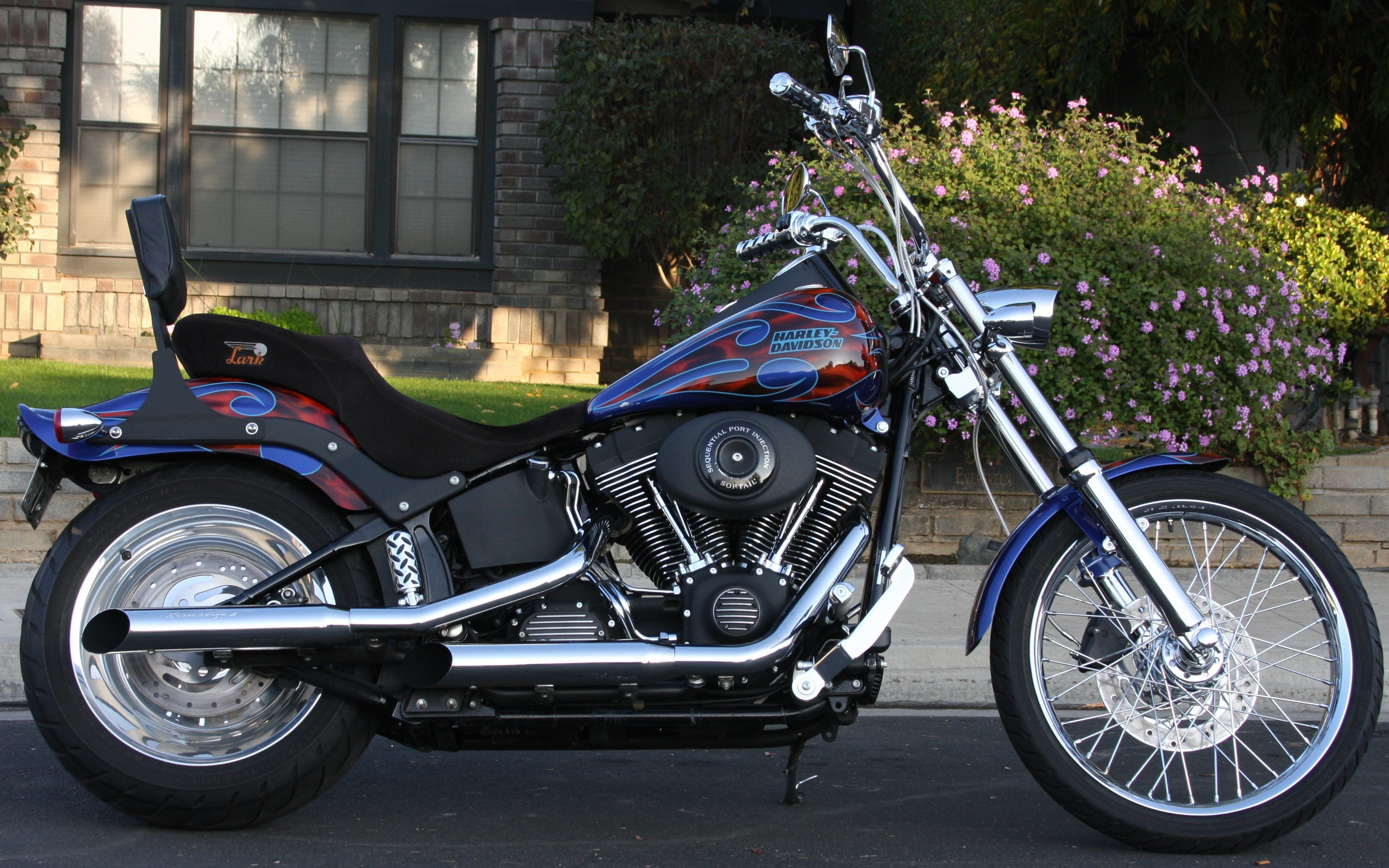 2006 Harley Davidson 174 Fxstb I Softail 174 Night Train 174 Blue