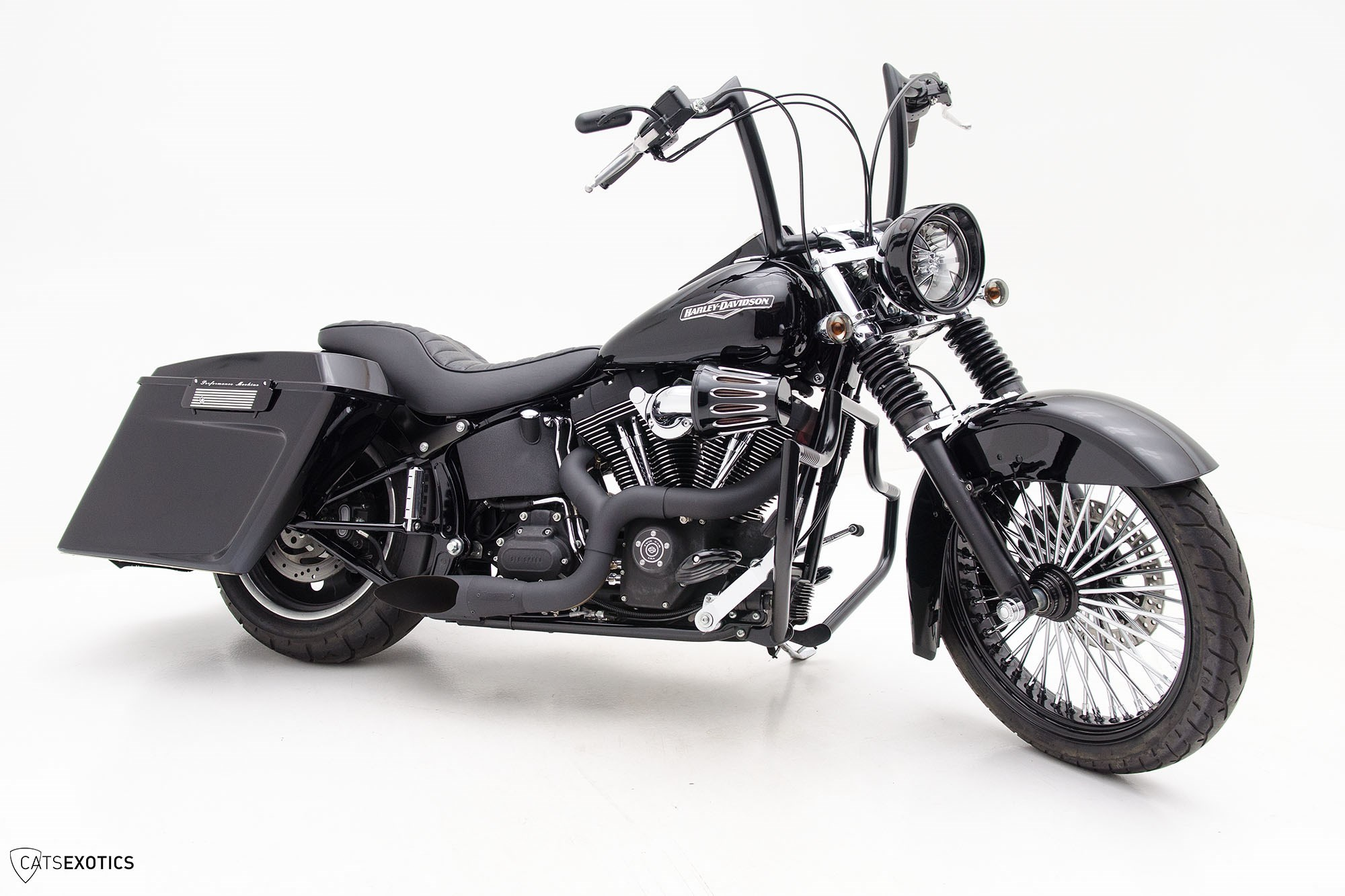 2009 harley davidson fxstb softail night train black. Black Bedroom Furniture Sets. Home Design Ideas
