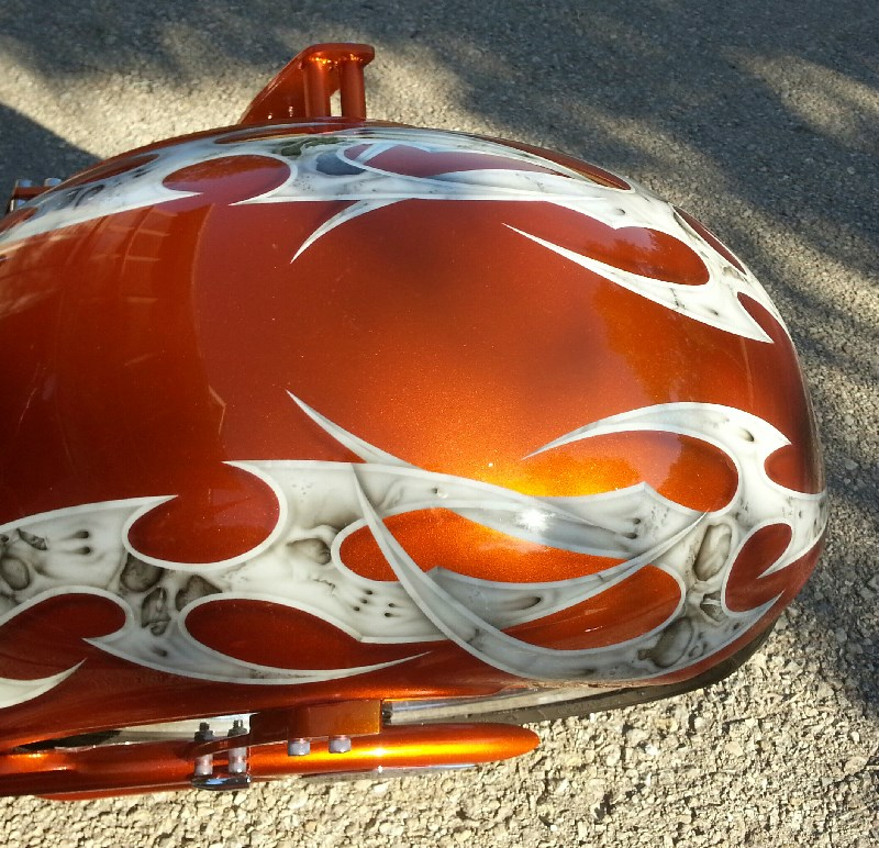 2006 Big Bear Choppers Sled ProStreet (Candy Orange/Ivory