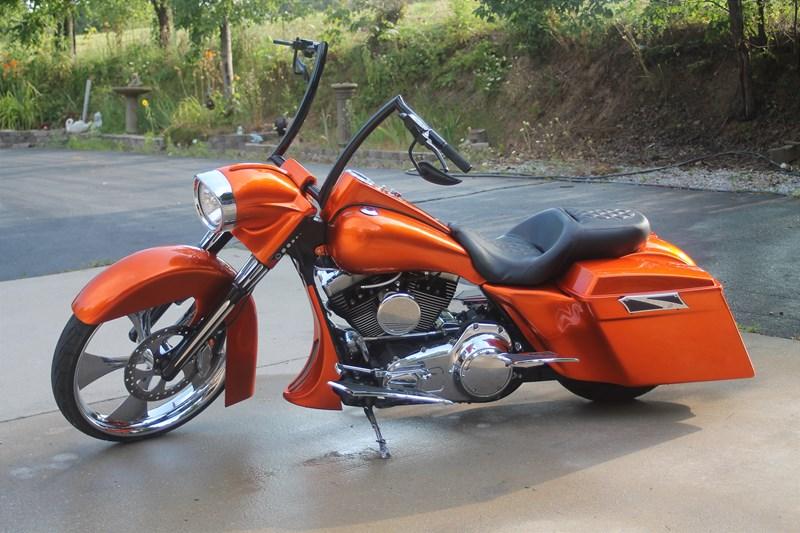 2007 harley-davidson® custom (burnt metallic candy orange), nixa