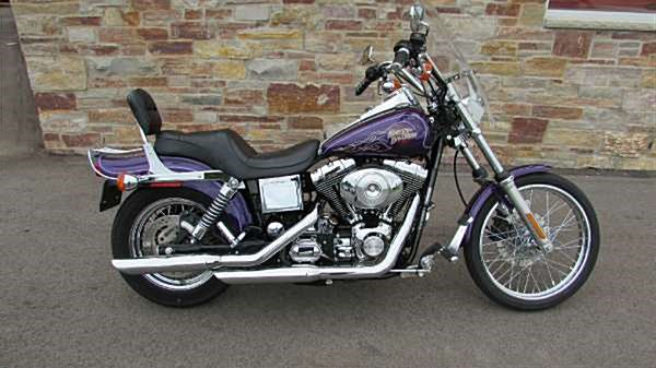 2001 harley davidson fxdwg dyna wide glide purple big. Black Bedroom Furniture Sets. Home Design Ideas