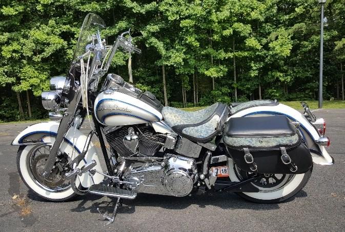 2008 Harley Davidson 174 Flstn Softail 174 Deluxe White