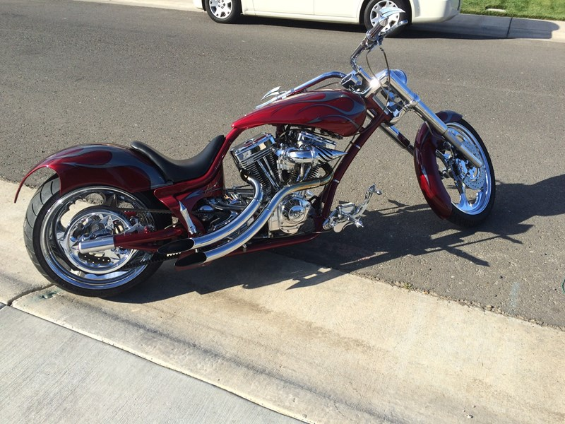 2005 midwest motor vehicles custom chopper red for Sacramento department of motor vehicles