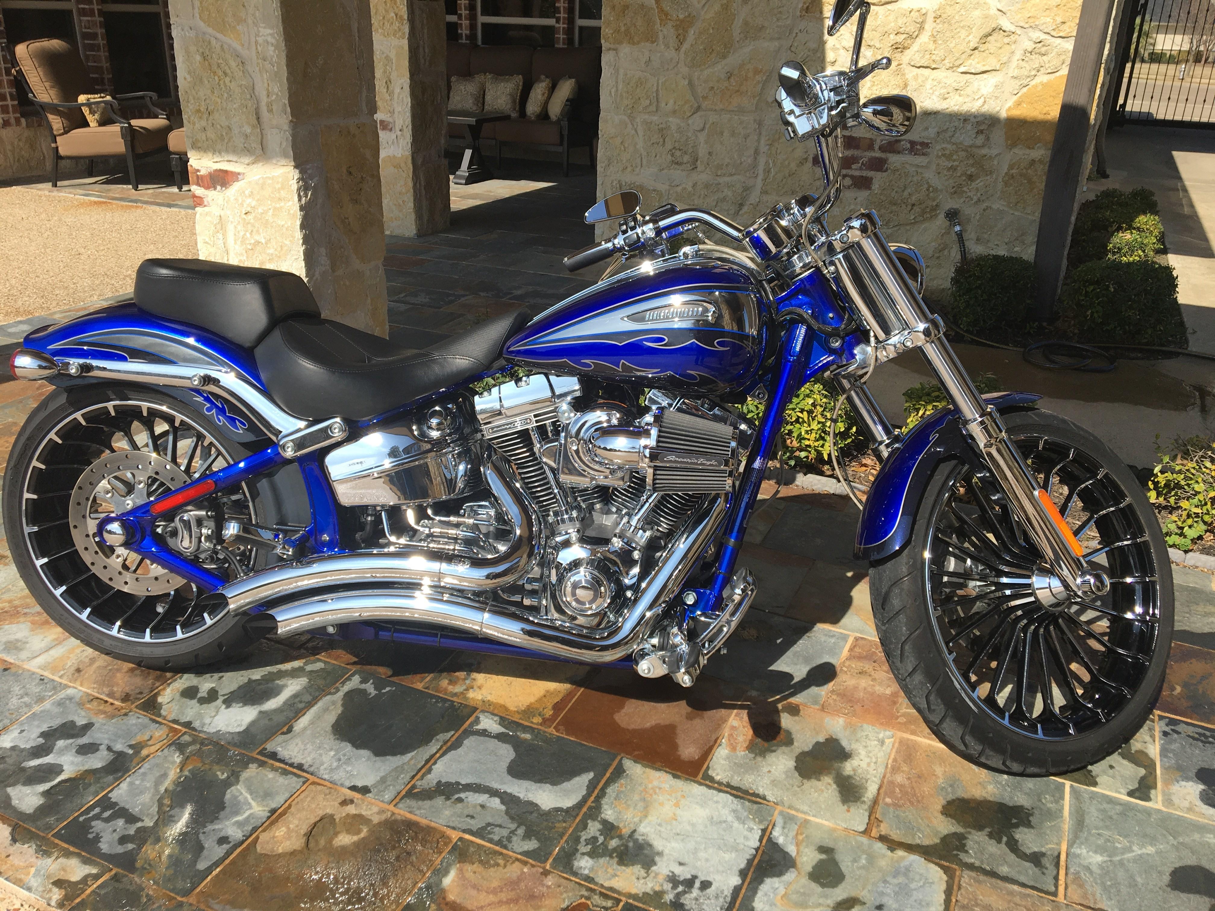 2014 Harley Davidson 174 Fxsbse Cvo Breakout Candy Cobalt