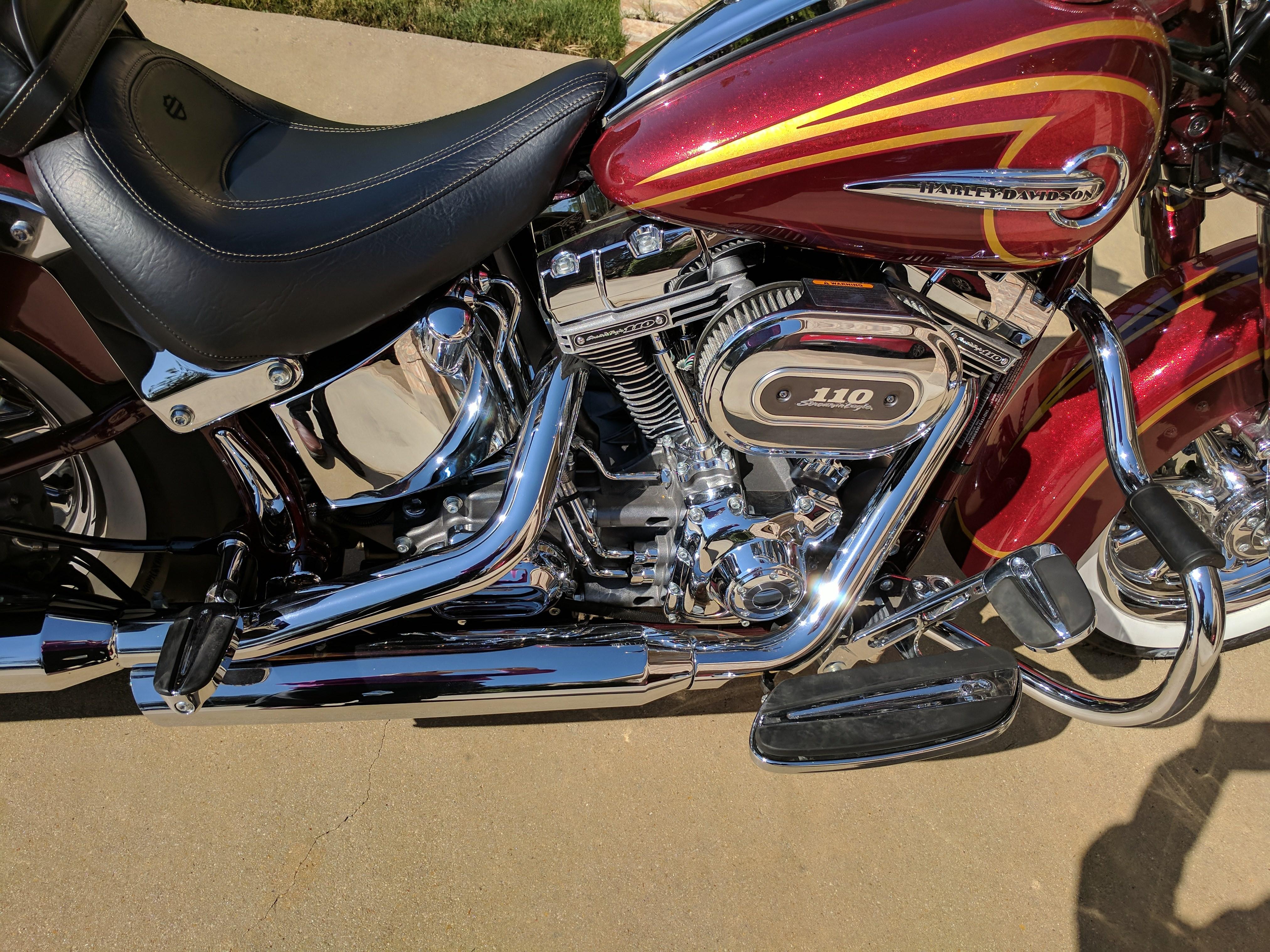 2017 Cvo For Sale Ga >> 2014 Harley-Davidson® FLSTNSE CVO™ Softail® Deluxe (Red), San Antonio, Texas (725353)   CycleCrunch