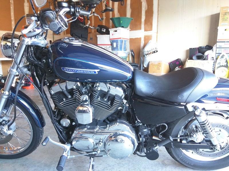 2009 Harley-Davidson® XL1200C Sportster® 1200 Custom (Blue), Austin ...