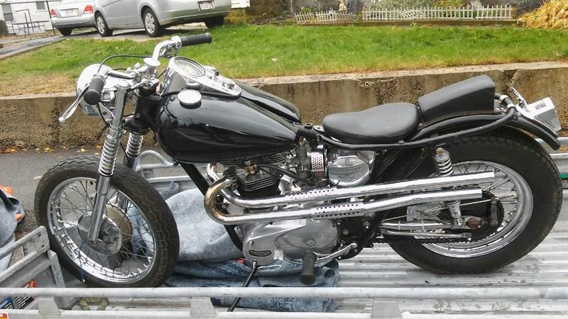 Photo of a 1963 Triumph TR6 Trophy 650