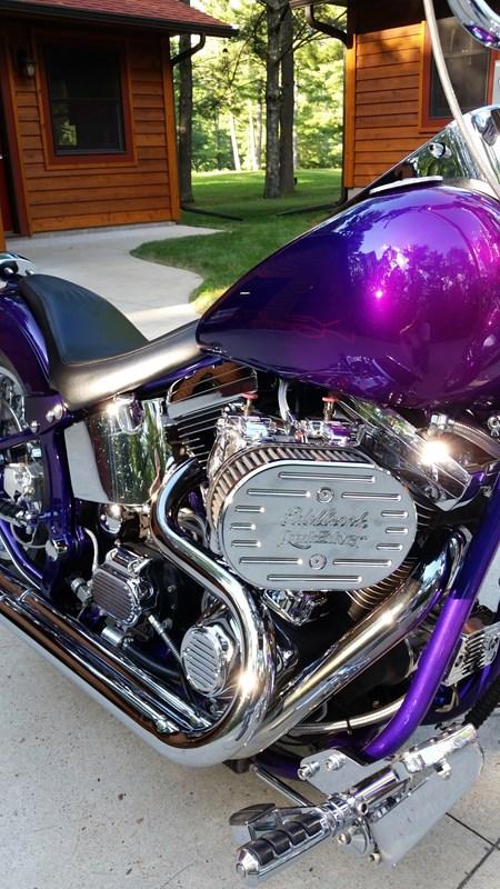 1992 Harley DavidsonR FXSTS SoftailR SpringerR Purple Silver