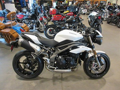 New 2019 Triumph Speed Triple S Crystal White