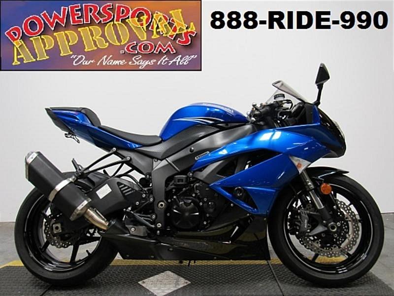 2011 Kawasaki Zx600r Ninja Zx 6r Blue Sandusky Michigan 916101