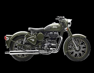 New 2017 Royal Enfield Classic Battle Green