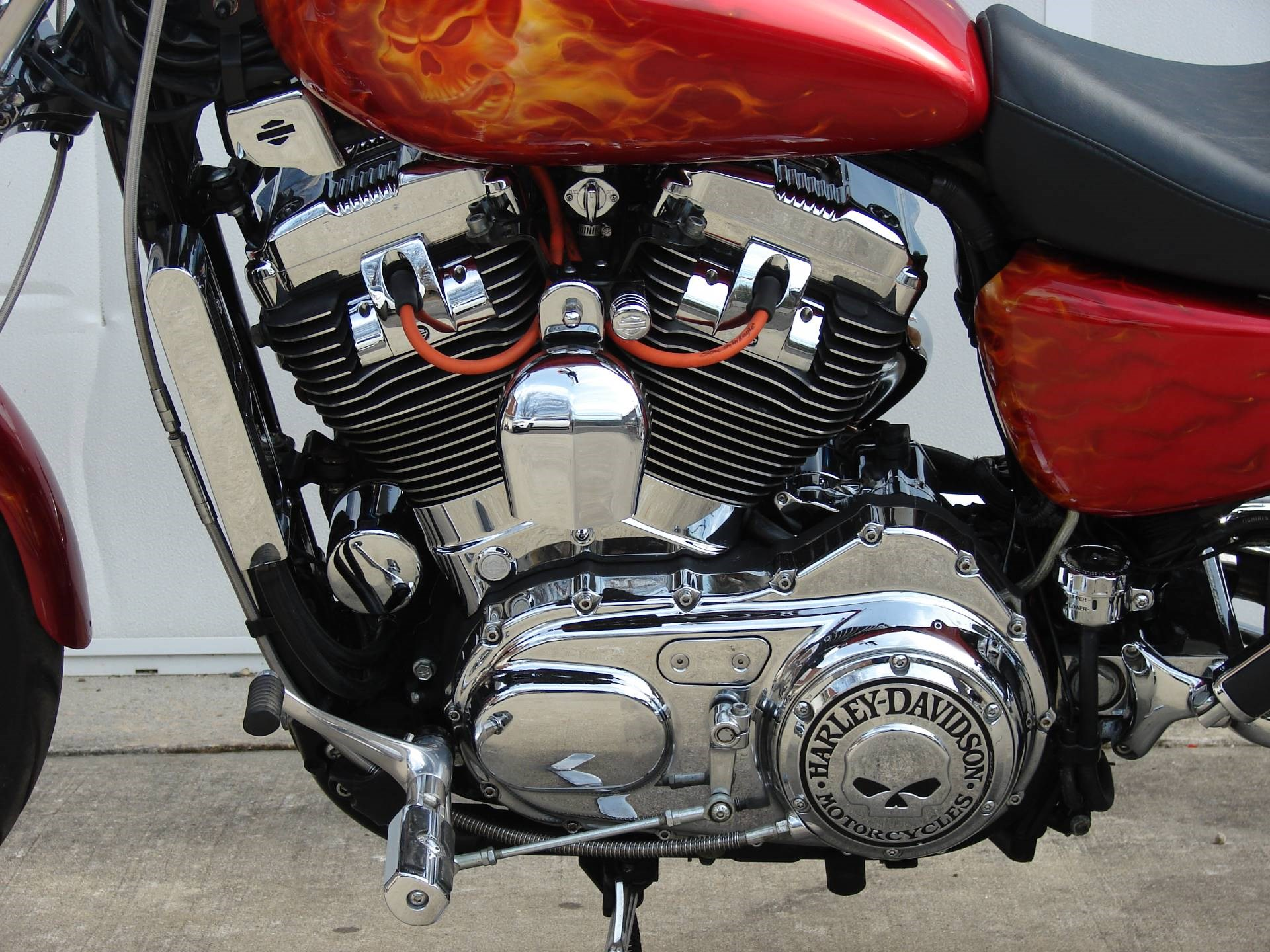 2005 Harley Davidson Xl1200c Sportster 1200 Custom Red